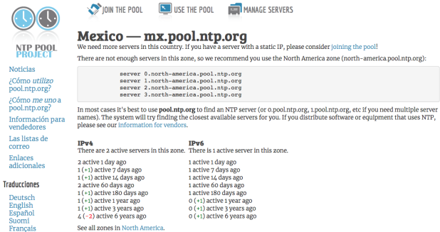 pool.ntp.org: NTP Servers in Mexico, mx.pool.ntp.org 2017-12-14 5 p. m.17-22-54